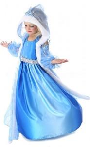 Карнавальный костюм детский для девочки эльза