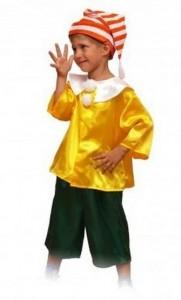 Карнавальный костюм детский на мальчика буратино