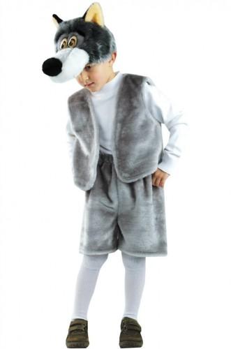 Карнавальный костюм детский на мальчика серый волк