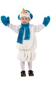 Костюм снеговика детский