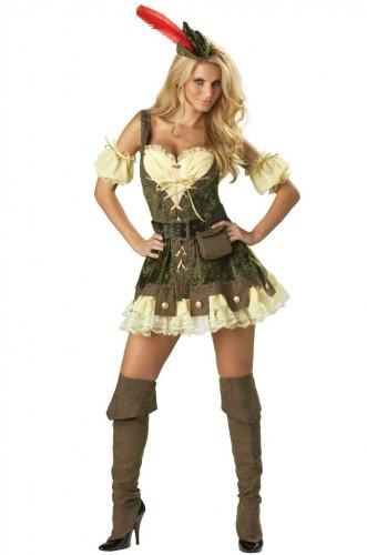 Карнавальный костюм женский девушка робин гуда