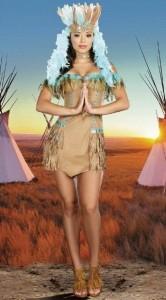 Карнавальный костюм женский индейская красавица