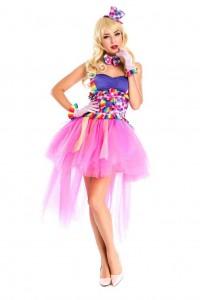 Карнавальный костюм женский клоунесса