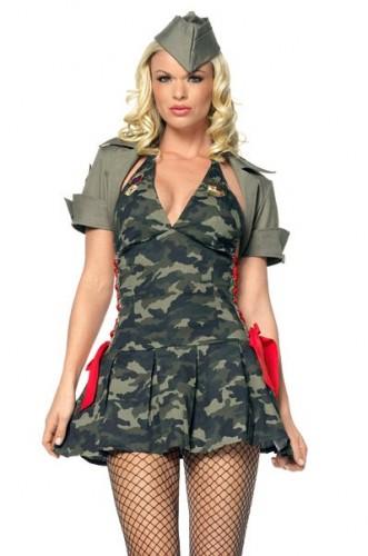 карнавальный костюм женский солдат сара