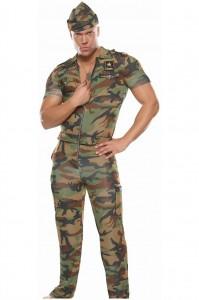 Карнавальный костюм военный мужской