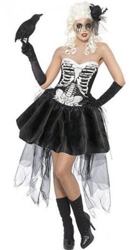 Карнавальный костюм женский на прокат скелет