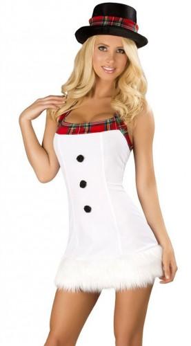 Карнавальный костюм женский снеговик