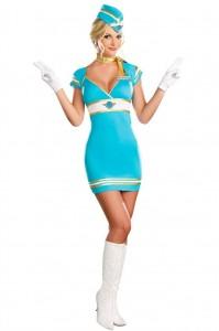 Карнавальный костюм женский стюардесса Жанна