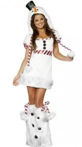 Карнавальный костюм женский снегвик
